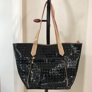 Authentic Arcadia Italian Patent Leather Tote Bag